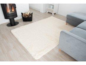 Plyšový koberec - Krémový