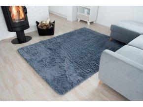 Plyšový koberec - Šedý 2