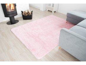 Plyšový koberec - Růžový 2
