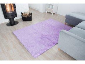 Plyšový koberec - Fialový