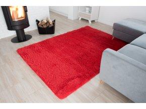Plyšový koberec - Červený
