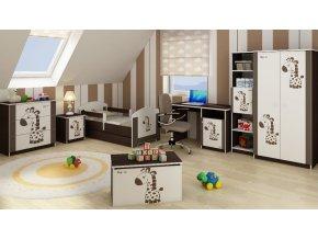 Dětská postel LUX FILIP HNĚDÁ ŽIRAFA 140x70cm (1)