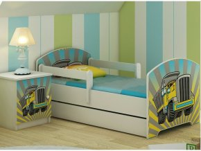 Dětská postel LUX filip auto 140x70 cm