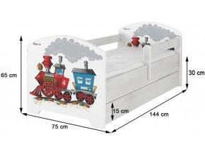 Dětská postel LUX FILIP EXTREME 140x70cm (1)