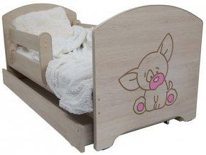 Dětská postel LUX FILIP s výřezem PEJSEK růžová 160x80cm (2)