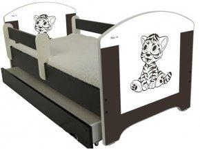 Dětská postel LUX FILIP HNĚDÝ TYGŘÍK 160x80cm (2)