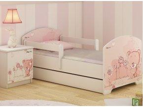 Dětská postel LUX FILIP RŮŽOVÝ MEDVÍDEK 160x80cm (2)