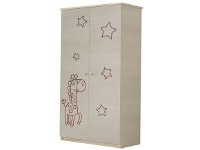 Dětská skříň LUX s výřezem ŽIRAFKA
