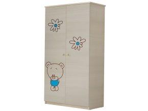 Dětská skříň LUX s výřezem MEDVÍDEK modrá
