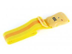 Bezpečnostní popruh na kufr s TSA kódovým zámkem - Žlutý