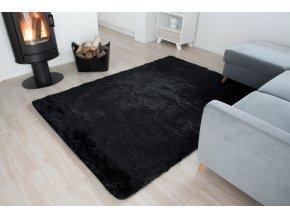 Plyšový koberec - Černý