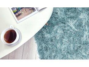 Shaggy koberec - Modrý