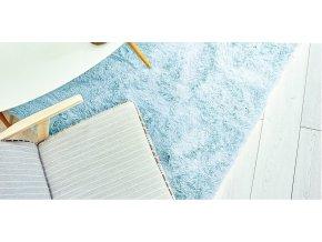 Plyšový koberec - Modrý 2
