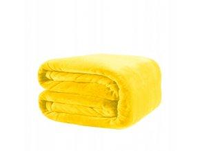 Deka SOFT 160x200 cm Žlutý