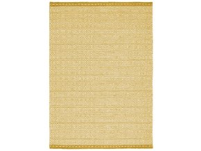 KNOX REVERSIBLE WOOL DHURRY OCHRE