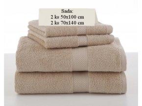 Sada ručníků a osušek SOFT Béžový
