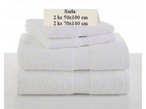 Sada ručníků a osušek SOFT Bílý