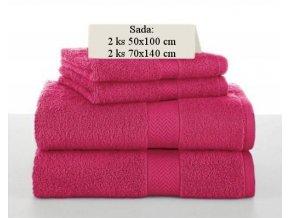 Sada ručníků a osušek SOFT Červený