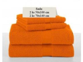 Sada ručníků a osušek SOFT Oranžový