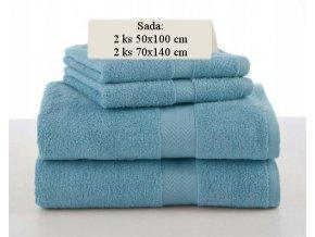 Sada ručníků a osušek SOFT Mořská