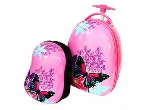 Dětský Kufr + Batoh Motýl