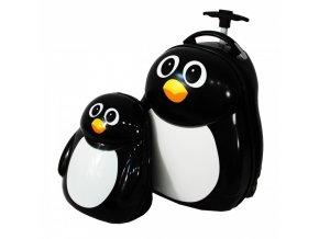 Dětský Kufr + Batoh Tučňák Penguin