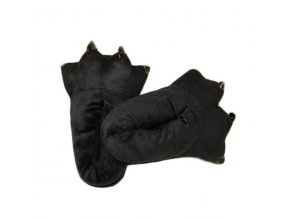 Plyšové Papuče KIGU - Černé Tlapy