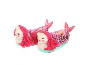 Plyšové Papuče KIGU - Mořská Panna
