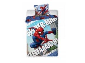 Detske Bavlněné Povlečení SPIDER-MAN 160x200 cm + 70x80 cm