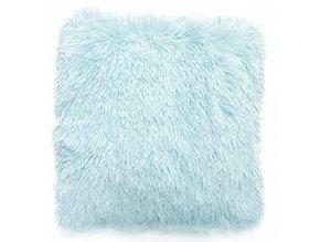Plyšový polštář 40x40 cm Modrý