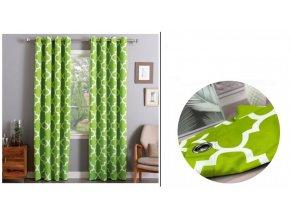 Dekorační závěs MAROCCAN Zelený