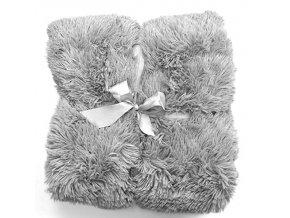 Plyšová deka - Šedá
