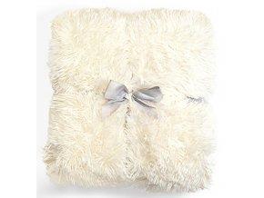 Plyšová deka - Bílá