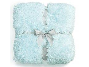 Plyšová deka - Blankytná