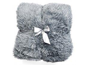 Plyšová deka - Popelavá