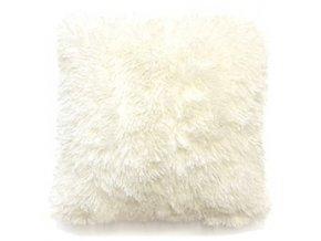 Plyšový povlak na polštář 40x40 cm Bílý