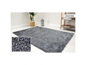Shaggy koberec Velvet Tmavě Šedý (1)