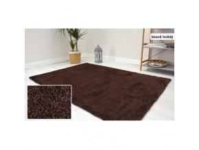 Shaggy koberec Velvet Tmavě Hnědý (1)