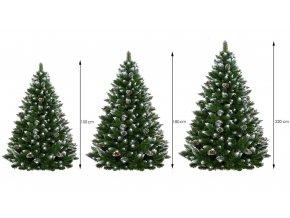 Umělá vánoční borovice s šiškami - diamant 220 cm