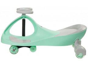 Vozítko JoyKids - pastelové zelené + kolečka LED
