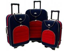 Cestovní Kufr CODUR - Tmavě Modrý - Červený