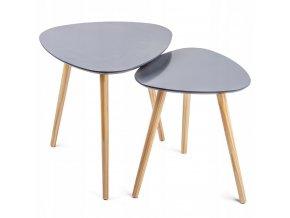 Konferenční stolek NESSO 2 ve skandinávském stylu 2 ks