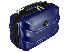 Cestovní Kosmetický Kufřík CARBON - Tmavě Modrý
