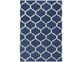 albany rug ogee blue wool