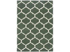albany rug ogee green wool
