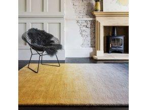 ombre rug om01 mustard wool