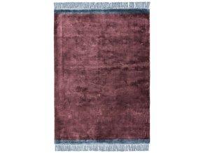 elgin tassels rug plum blue border