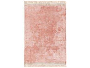 elgin tassels rug pink silver border