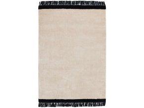elgin tassels rug cream black border