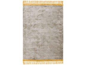 elgin tassels rug silver mustard border